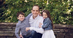 Dr. Bernstien with his two children